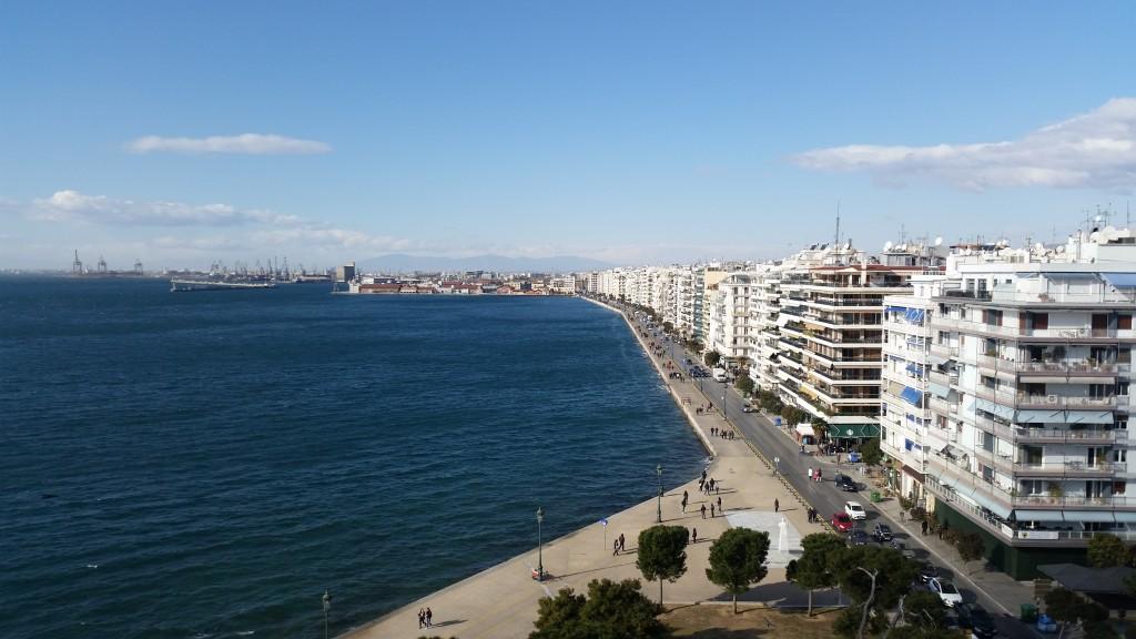 Гледка от бялата кула Солун HotelFinder търсене и оценка на хотели
